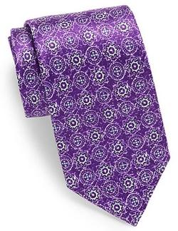 Burma Bibas -  Abstract Patterned Silk Tie