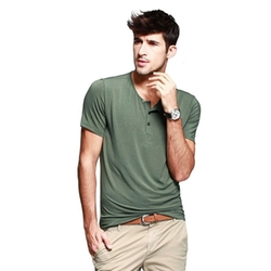 Ruaye - Short Sleeve Henley Top