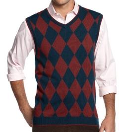 Geoffrey Beene - Argyle V-Neck Sweater Vest