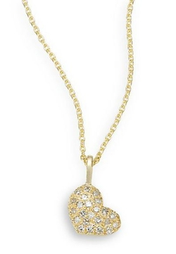 Saks Fifth Avenue  - Yellow Gold Heart Necklace