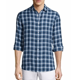 Michael Kors - Large-Check Tailored-Fit Shirt
