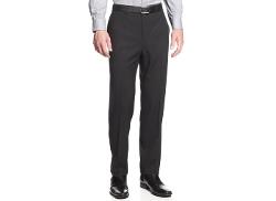 Calvin Klein  - Textured Slim-Fit Dress Pants