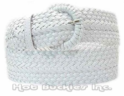 Hot Buckles  - Braided Wide Leather Belt