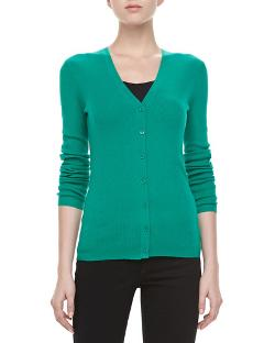 Michael Kors   - Long-Sleeve Cashmere Cardigan