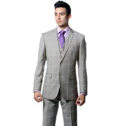 Ferrecci  - Three Piece Plaid Vested Suit