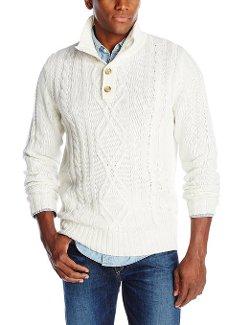Haggar  - Quarter Button Mock Neck Sweater