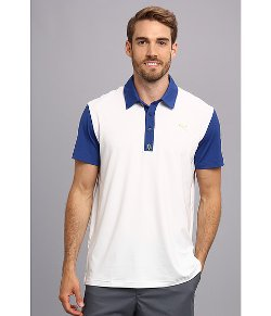 Puma - Golf Color Blocked Yoke Print Polo Shirt