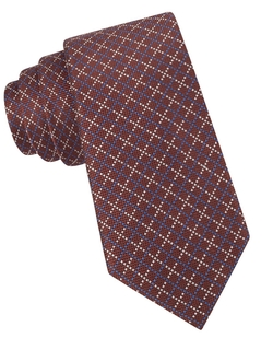 Black Brown 1826  - Silk Broken Check Tie