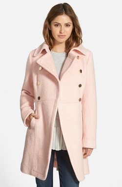 Guess  - Double Breasted Bouclé Cutaway Coat
