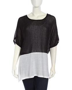 Neiman Marcus - Colorblock Pullover Knit Caftan