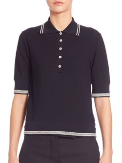 Thom Browne  - Striped Polo Shirt