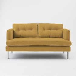 West Elm - Jackson Loveseat, Performance Velvet Sofa