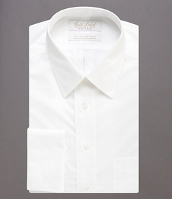Gold Label Roundtree & Yorke - Fitted Point-Collar Dress Shirt