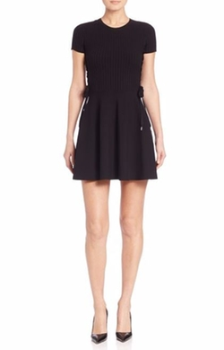RED Valentino  - Knit Side-Tie Dress