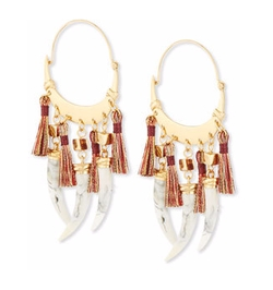 Tory Burch - Dangling-Horn Hoop Earrings