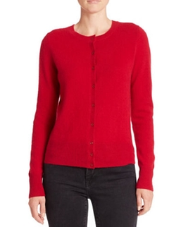 Lord and Taylor - Crewneck Cashmere Cardigan