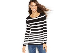 INC International Concepts - Long-Sleeve Striped Tee Shirt