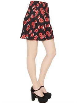 Blugirl  - Floral Printed Techno Stretch Cady Skirt