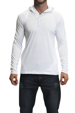 Victorious - Lightweight Henley Hoodie Th857 - White