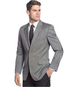 Club Room - Tweed Elbow Patch Sport Coat