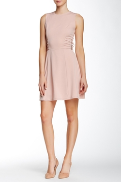OnTwelfth - Sleeveless Fit & Flare Side Buckle Dress