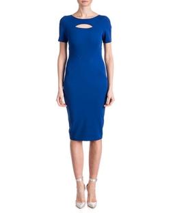 ZAC Zac Posen - Brenda Short-Sleeve Cutout-Top Sheath Dress