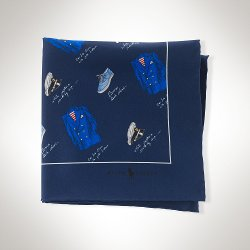 Ralph Lauren - Nautical Silk Pocket Square