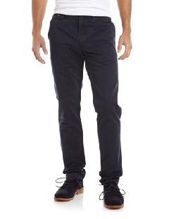 Paper Denim & Cloth  - Bank Twill Straight-Leg Pants, Navy