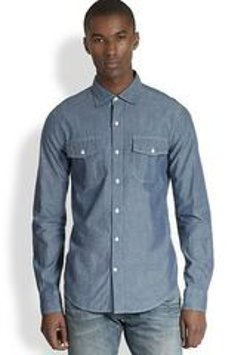 Vince - Chambray Button-Down Shirt