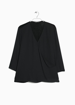 Mango Outlet - Wrap Neckline Blouse