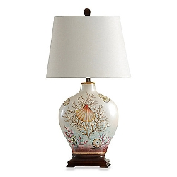 Coastal Coral Bay  - Ceramic Table Lamp
