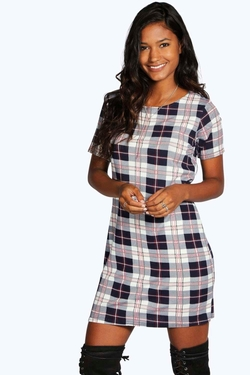 Boohoo  - Minnie Check Shift Dress