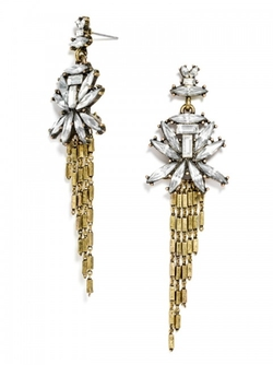 Baublebar - Gatsby Fringe Drop Earrings