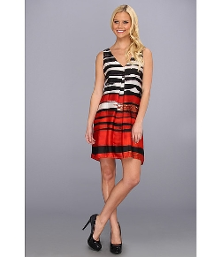 Muse - Inverted Pleat Striped Dress