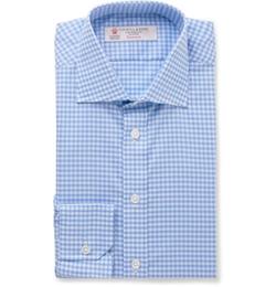Turnbull & Asser  - Slim Fit Gingham Cotton Shirt