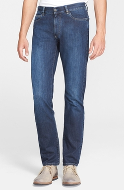 Canali - Straight Leg Italian Stretch Cotton Jeans
