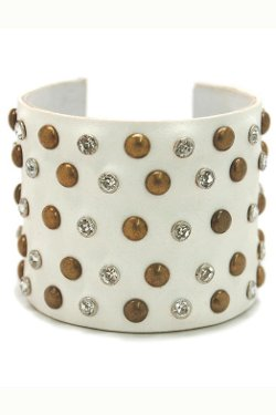 Made It! - Leather Bling Cuffs