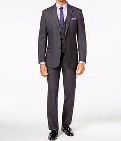 Kenneth Cole Reaction - Tonal Shadow Check Vested Suit