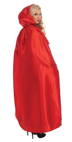 Mr. Costumes - Red Hooded Fancy Masquerade Cape