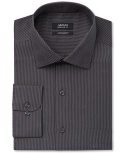 Alfani  - Performance Bold Charcoal Stripe Dress Shirt