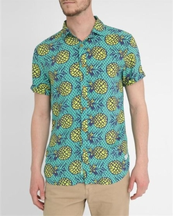 Scotch And Soda - All-Over Pineapples Short-Sleeved Shirt
