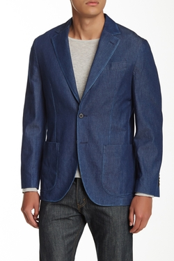Thomas Dean - Two Button Notch Lapel Suit Jacket