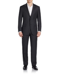 Hickey Freeman - Regular-Fit Tonal-Check Worsted Wool Suit