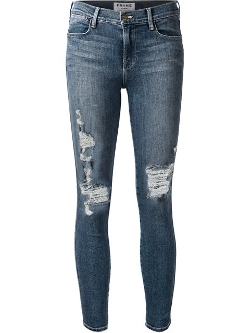 Frame Denim - Distressed Skinny Jeans