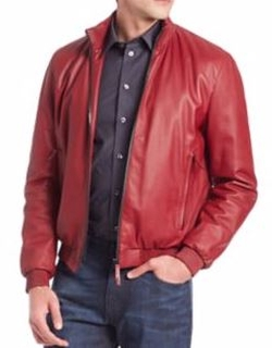 Armani Collezioni  - Textured Leather Jacket