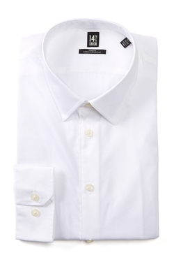 14th & Union - Solid Trim Fit Dress Shirt