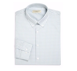 Burberry  - Gingham Checked Dress Shirt