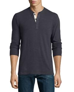 Rag & Bone  - Basic Long-Sleeve Henley Shirt