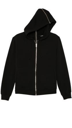 BLK DNM  - Hooded Sweatshirt 16 with Full Zip Detail