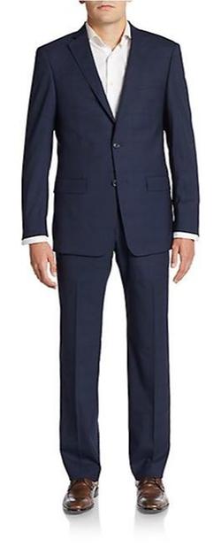 Michael Kors  - Regular-Fit Tonal Windowpane Wool Suit